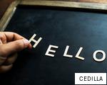 CEDILLA anagram