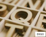 ERGO anagram