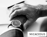MICACEOUS anagram