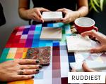 RUDDIEST anagram